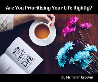 Prioritizing Your Life Rightly