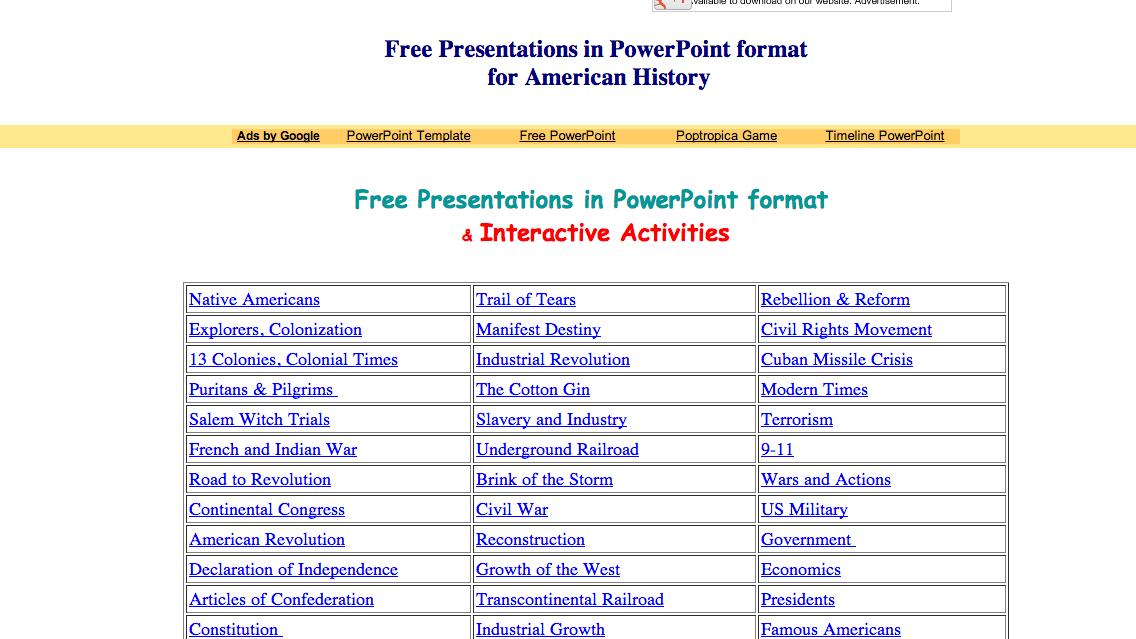 US History Teachers Blog: US History PowerPoints