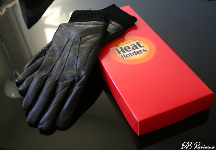 Mens Heat Holders Leather Gloves
