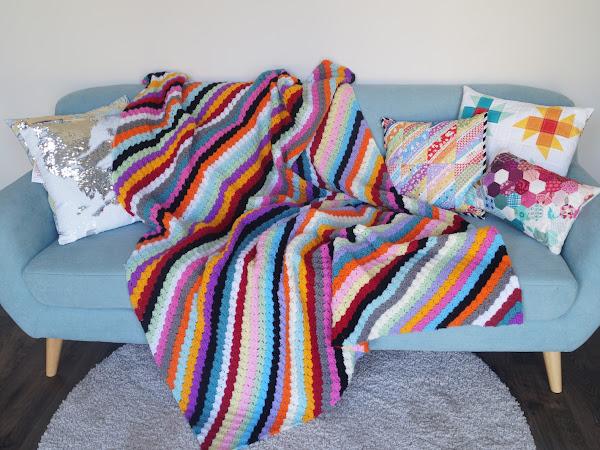 CROCHET: Rainbow Corner to Corner Blanket