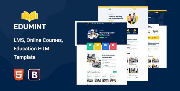 Best LMS, Online Courses, Education HTML Template