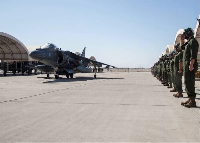 Marine Corps Harrier VMA311 sundown
