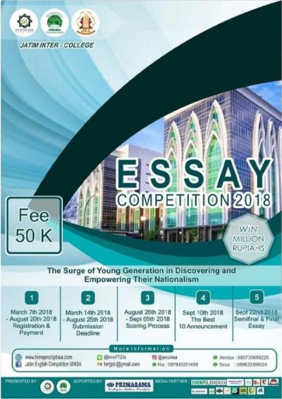 Lomba Essay Competition Mahasiswa UIN Sunan Ampel Surabaya 2018