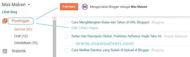 Membuat entri baru di blog
