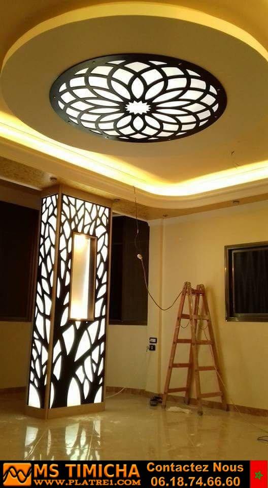 Un très beau faux plafond des créations de Ssy Design - Casablanca Maroc