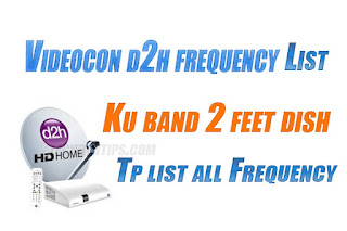 Videocon d2h Frequency List
