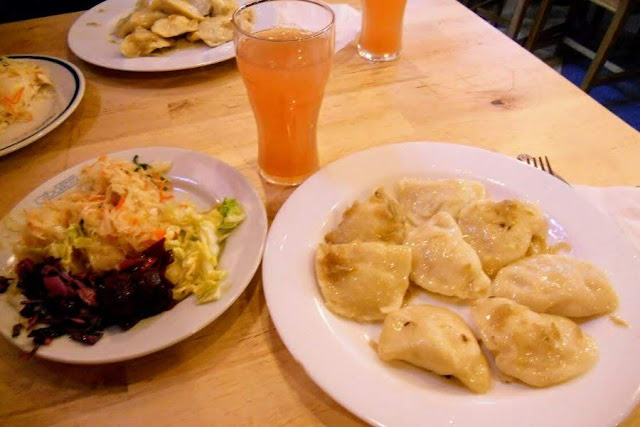 Things to do in Wroclaw Poland in winter: eat pierogi for lunch at Hala Targowa