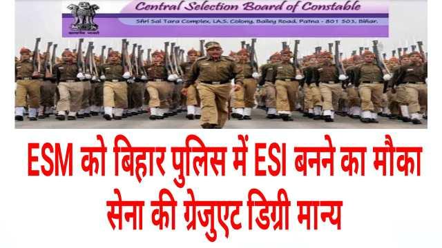 BPSSC Bihar Police ESI Recruitment online form