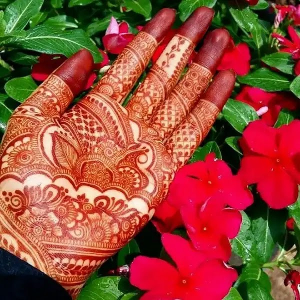 Flowers_Dots_mehndi_design_for_indian