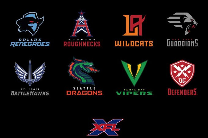 XFL Teams And Logos Revealed