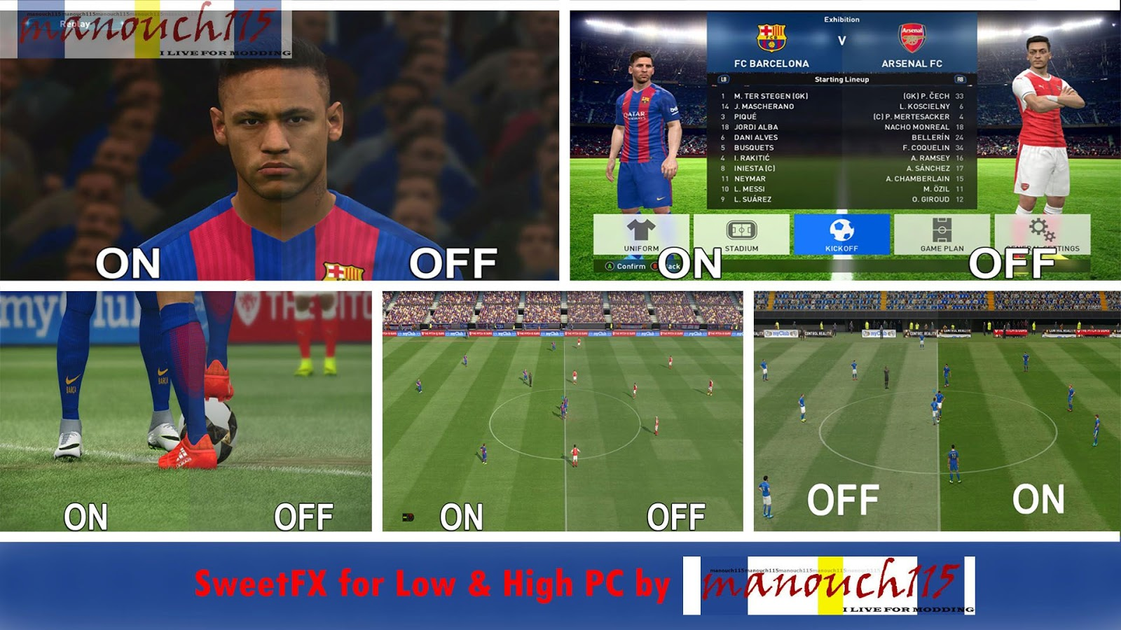 PES 2018 SweetFX For Low and High PC by manouch 115