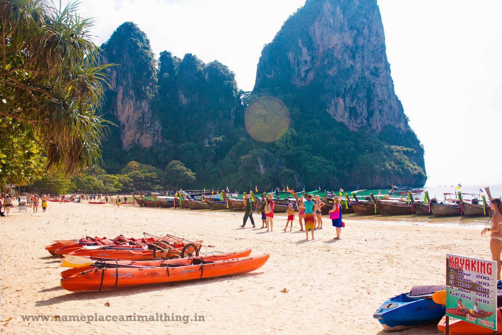 West Railay Beach (landing point for speedboats)