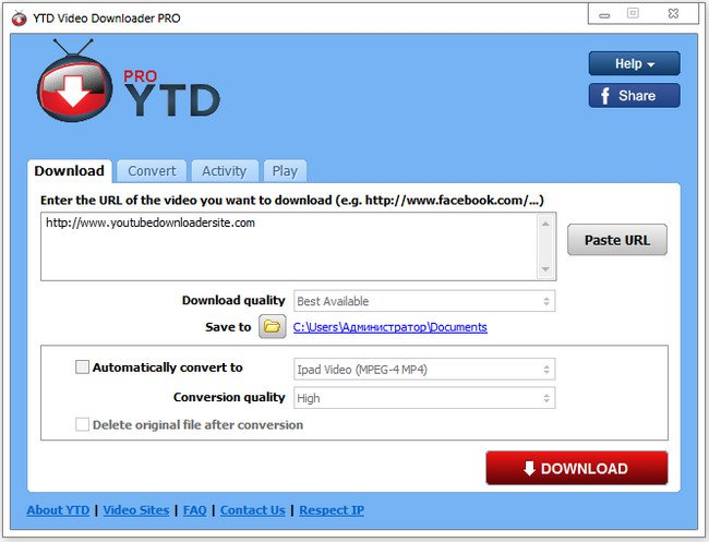 YTD Video Downloader Pro v5.8.6.0.7 Español Full Crack