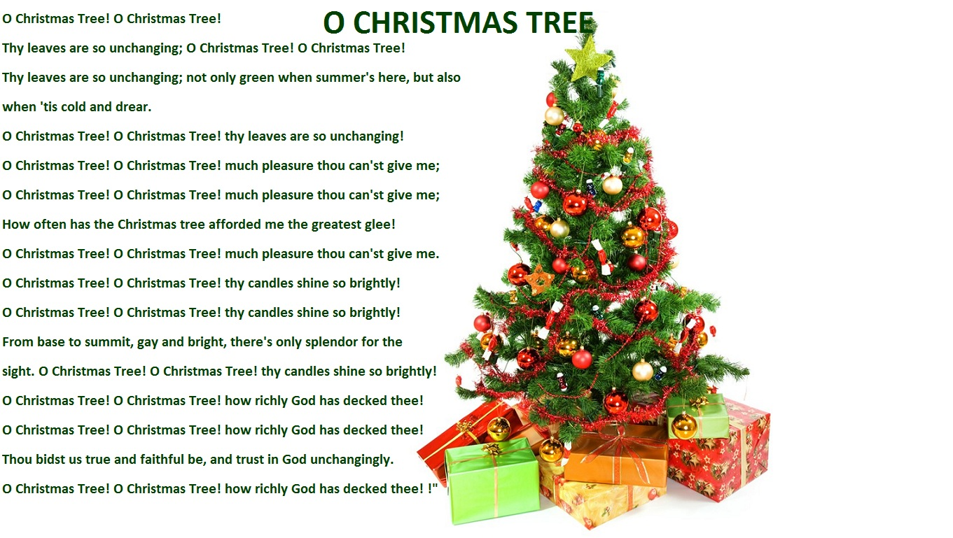 Christmas Lyrics Songs Decoration Ideas