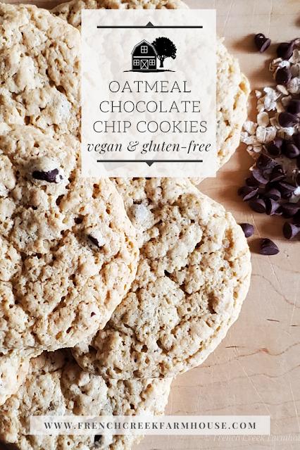 Gluten-free Vegan Chocolate Chip Oatmeal Cookies