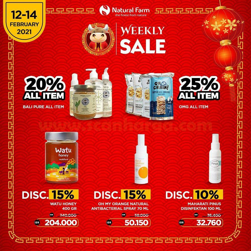 Promo Natural Farm Weekly Sale Diskon hingga 25%