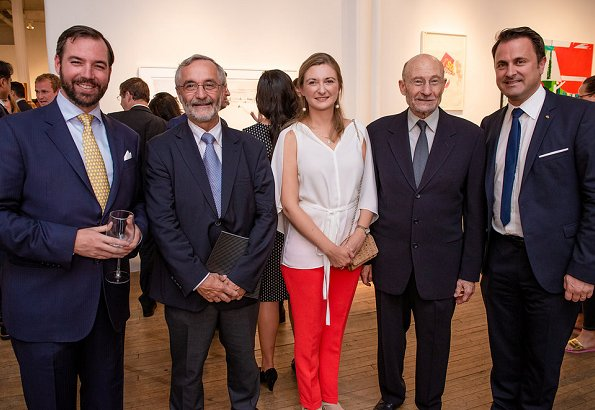 "Hereditary Grand Duchess Stephanie and Hereditary Grand Duke Guillaume attended the opening of ""Art2Cure"" exhibition in New York City"