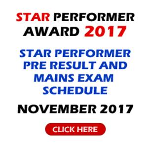 Star Performer Award |  November 2017 |  Prelims Result