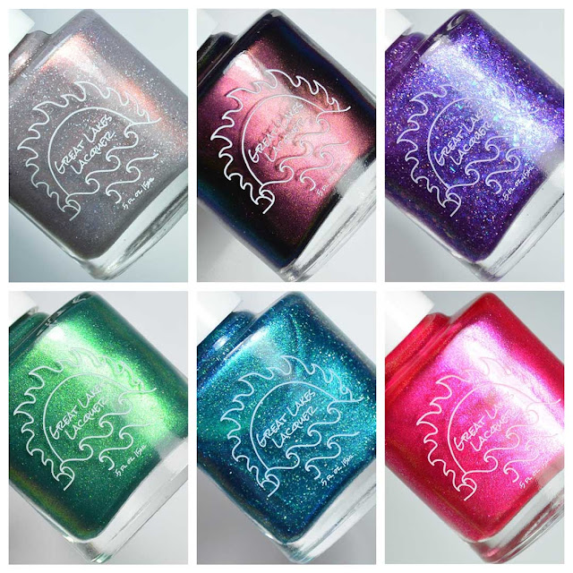 nail polish collection bottles