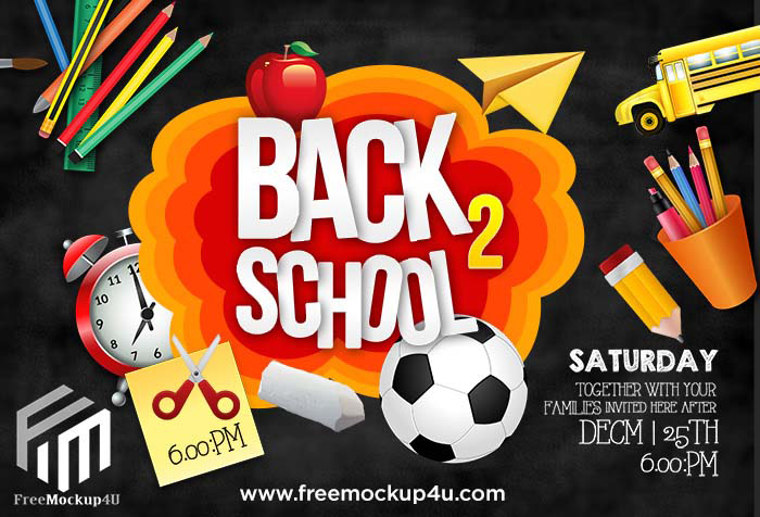 Back To School Card Psd Template Free Download