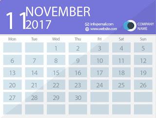 november 2017 timetable calendar