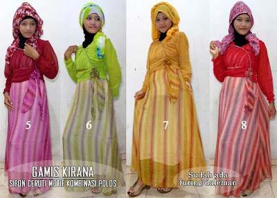 Model Baju Muslim Gamis Sifon Modern Untuk Remaja