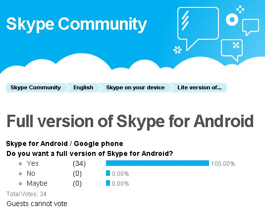 Download the latest version of skype for android