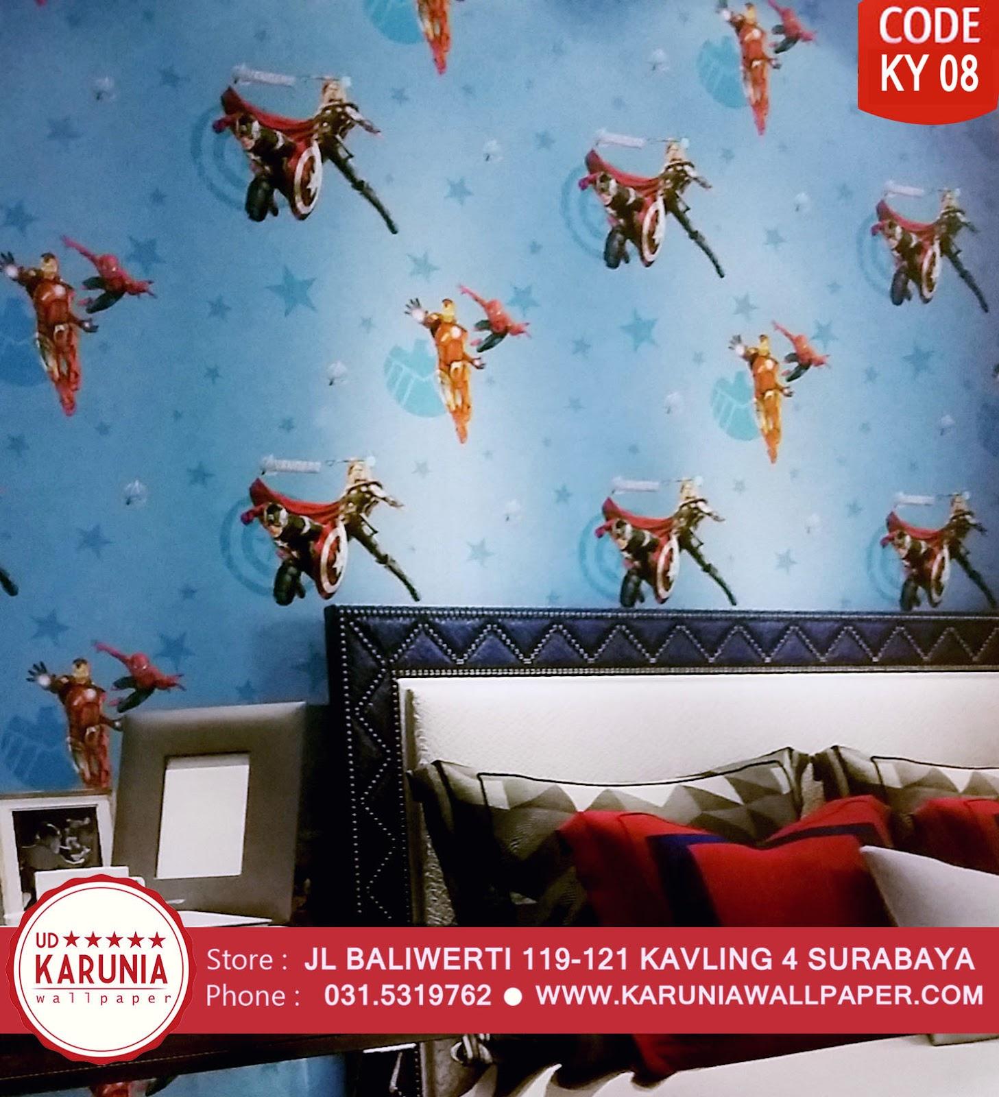jual wallpaper dinding the avengers superhero anak -anak karuniawallpaper