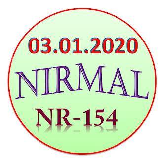 Kerala Lottery Result Nirmal NR-154 03.01.2020