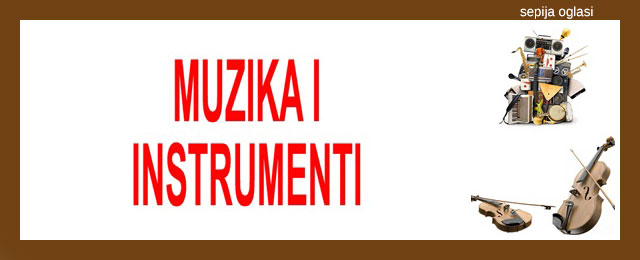 MUZIKA I INSTRUMENTI SEPIJA OGLASI - 11.