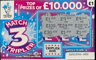 £1 Match 3 Tripler Scratchcard
