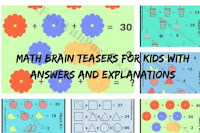 Math Brain Teasers for Kids with Answers and Explanations
