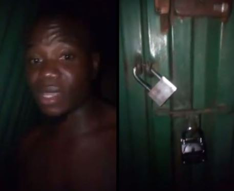 'I can't write my exam today' - Nigerian student cries for help after his landlord locked him at home (Video)