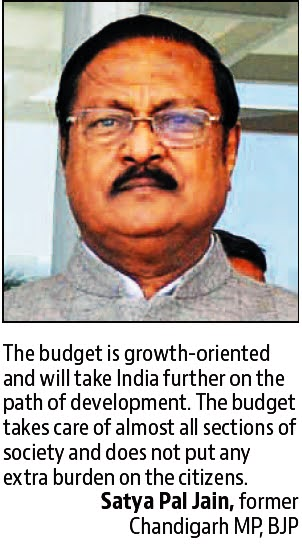 The budget is growth -oriented and will take India further on the path of development - Satya Pal Jain