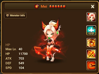 Summoners War : Martial Cat 2nd Awakening Skills and Stats
