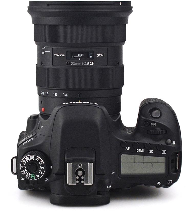 Tokina ATX-i 11-20mm f/2.8 CF с камерой Canon