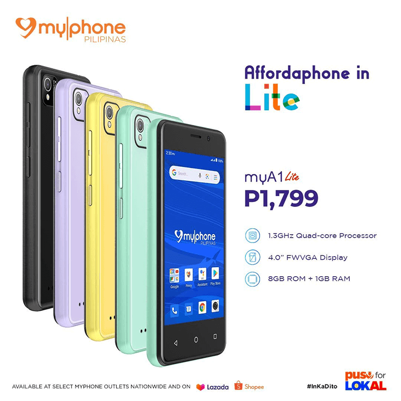 MyPhone intros myA1 Lite for PHP 1,799, cuts the price of myWX2 series by PHP 300