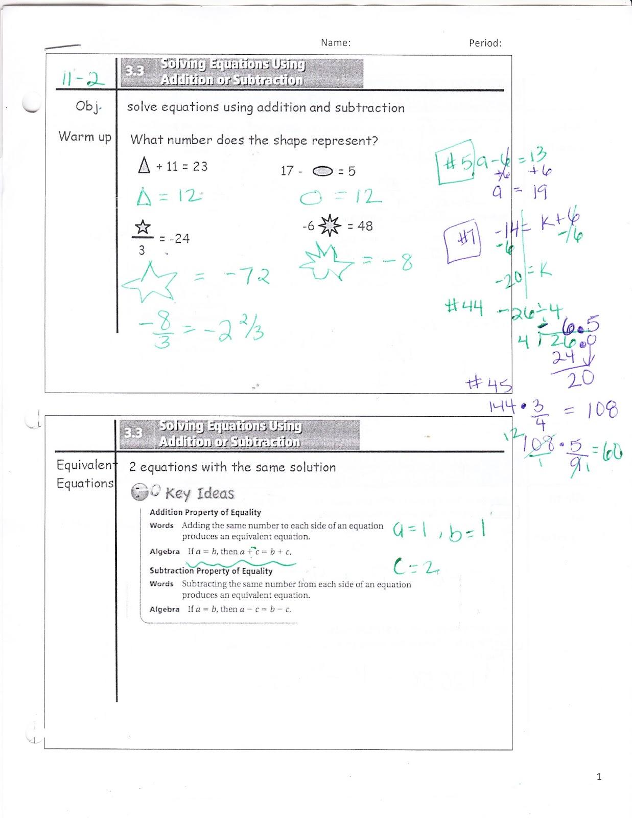 Ms Jean S Classroom Blog 3 3 Solving Equations Using