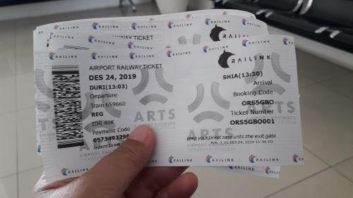 tiket KA Bandara Railink dari Duri