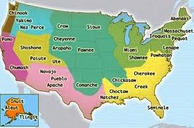 Mapa das Tribos Ameríndias