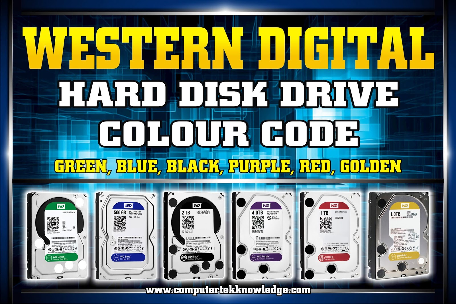 WD Hard Drive Color Codes
