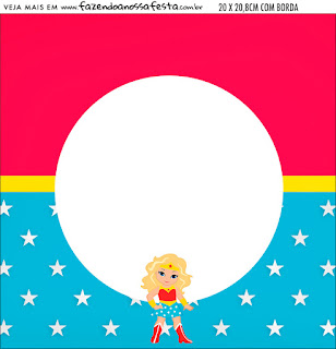 Mujer Maravilla Rubia: Imprimibles Gratis para Fiestas.