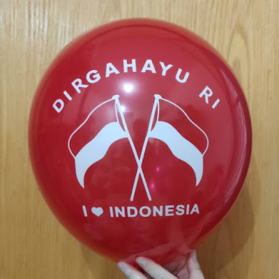 Balon Latex Print DIRGAHAYU RI