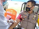 Peringati HUT ke 65 Polantas, Satuan Lalu Lintas Polres Langsa Kumpulkan 74 Kantong Darah