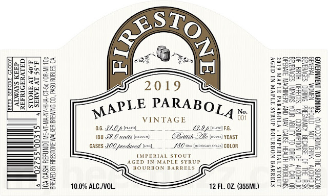Firestone Walker Maple Parabola Coming In 2019