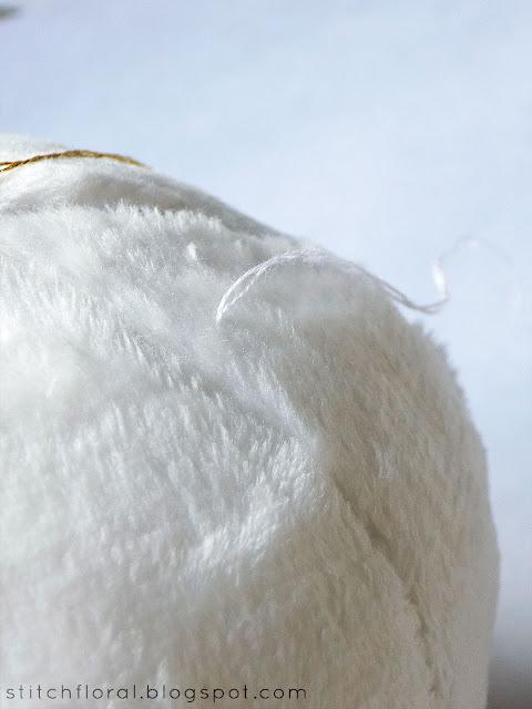 DIY plush snowball ornament