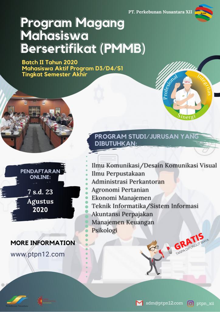 Lowongan Kerja BUMN Perkebunan Nusantara PTPN XII Tahun 2020