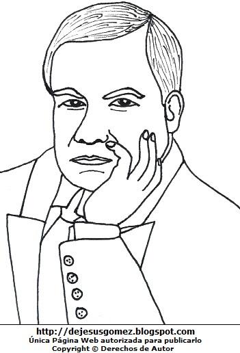 Dibujo de Rubén Darío para colorear, pintar o imprimir. Imagen de Rubén Darío de Jesus Gómez