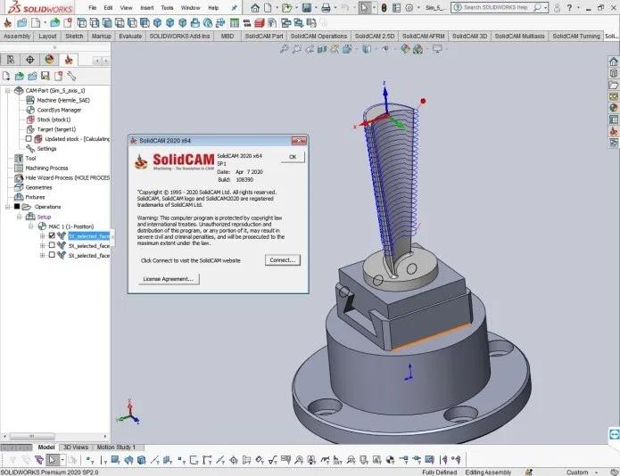 تحميل برنامج  SolidCAM 2020 SP1 أداة التصنيع المتكاملة الأكثر نجاحًا