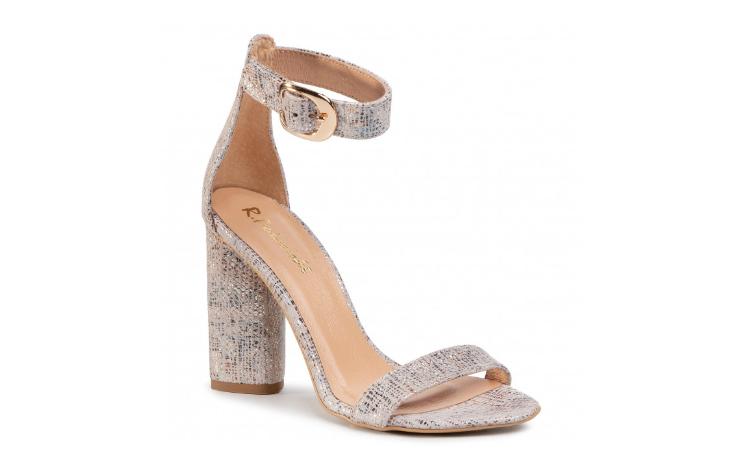 Sandale cu toc gros de ocazii elegante din piele naturala bej R.POLAŃSKI